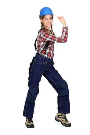 Tradeswoman with a can-do attitude photo