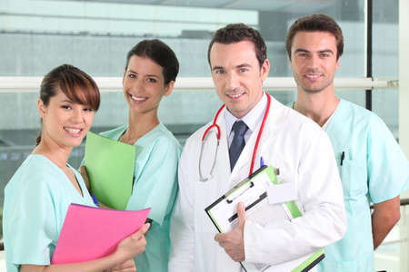 Resident and interns in hospital Stock Photo - 11824275