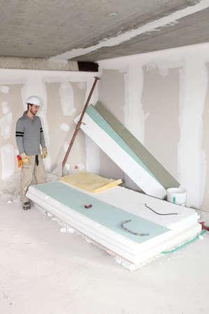 Man revamping house photo