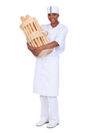 canasta de pan: Baguette francesa fresco