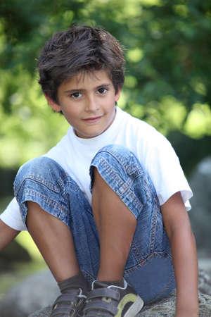 8 9 years: portrait of a little boy