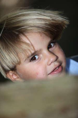 blond haired: Blond boy