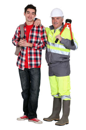 Foreman and student Stock Photo - 11842846