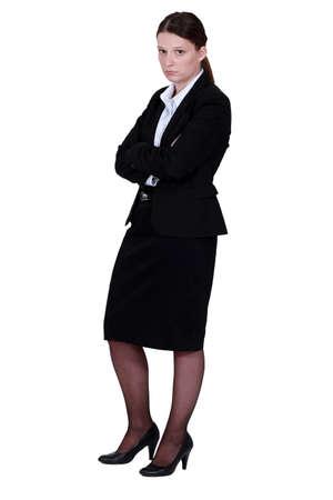 disheartened: Annoyed businesswoman
