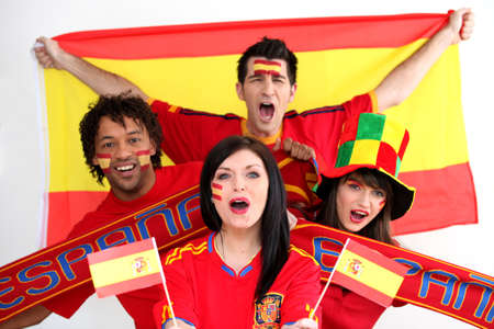 Spanish football supporters photo