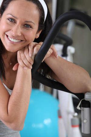 pep: Woman at the gym