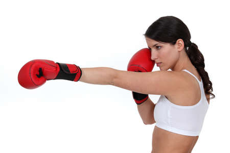 tomboy: Boxer throwing a punch