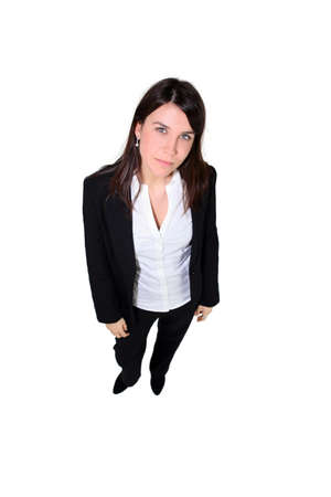 trouser: Confident woman in a trouser suit Stock Photo