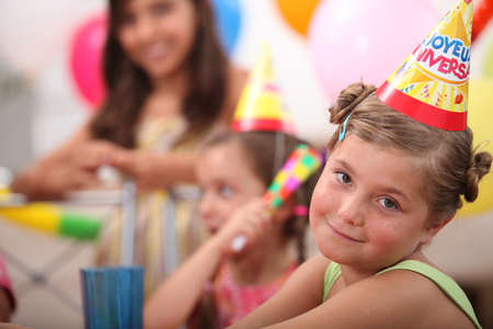party time: Little girl at birthday