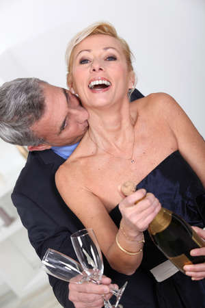 newlyweds: A kiss on the neck