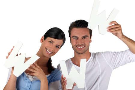 advocates: Internet fans Stock Photo