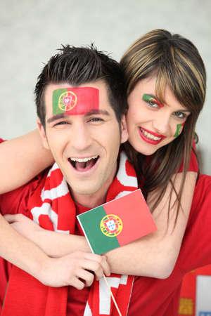 ballgame: Portugal supporters