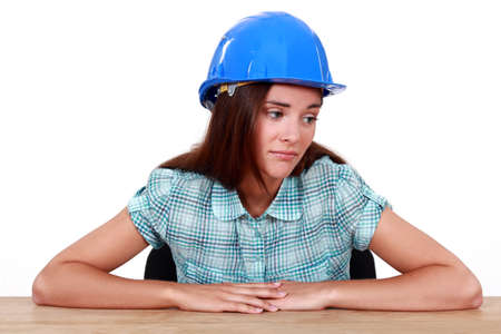 craftswoman looking very sad Stock Photo - 11843820