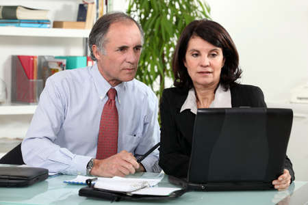 couple working together on laptop Stock Photo - 11913735
