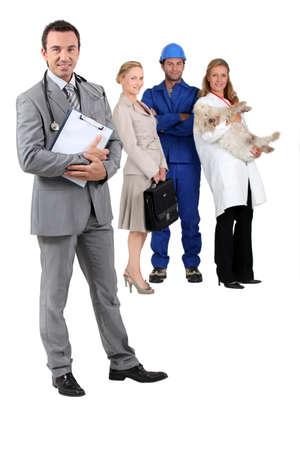 diferentes profesiones: Diferentes profesiones Foto de archivo