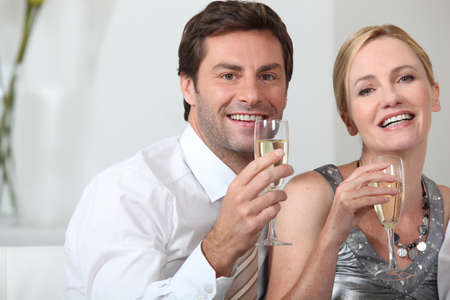 Couple celebrating Stock Photo - 11913529