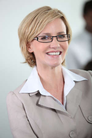 Businesswoman smiling. photo
