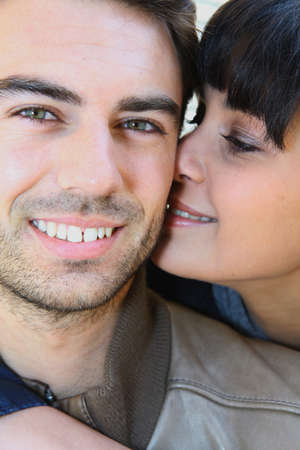 arm of a man: Close-up of young couple