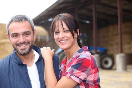 Farming couple photo