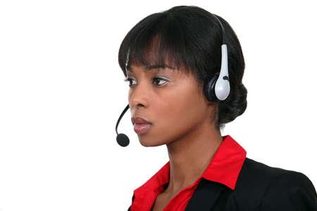 sales call: call center employee