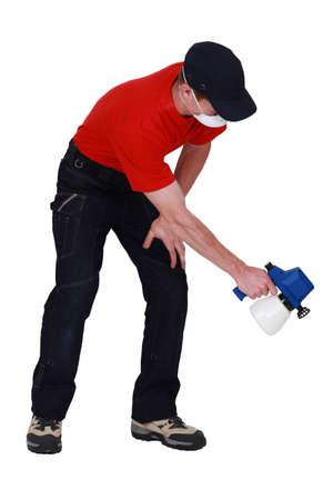 craftsman spraying Stock Photo - 11911040