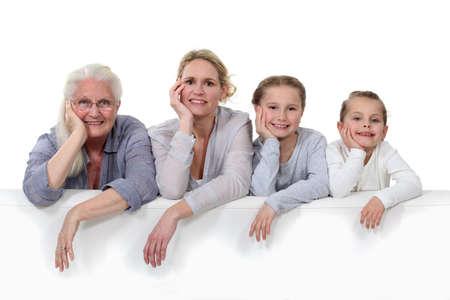 grandmother children: Retrato de la familia