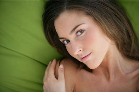 bare skinned: Portrait of a sensual woman Stock Photo