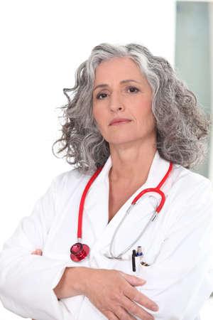 smug: Portrait of an authoritative doctor
