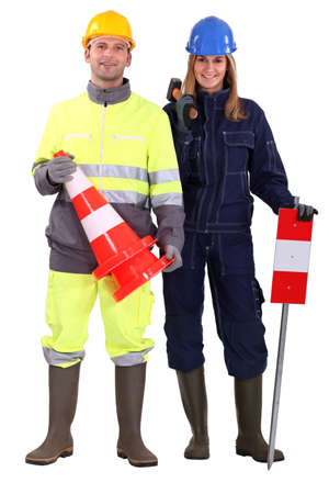Civil construction workers photo