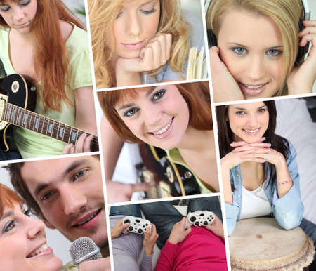 A collage of adolescent girls photo