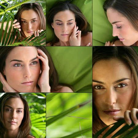 combination: Feminine beauty Stock Photo