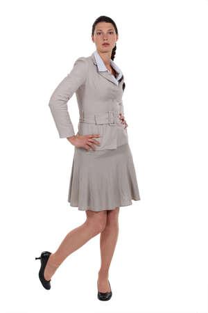 A cute brunette businesswoman posing. Stock Photo - 11910984