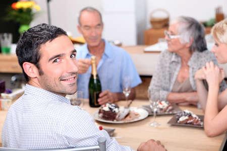 Family birthday party photo