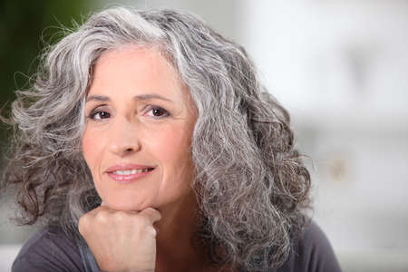 Portrait of beautiful senior woman Stock Photo - 11913740
