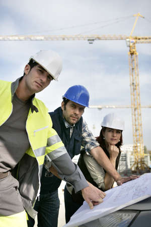 Workteam on construction site photo