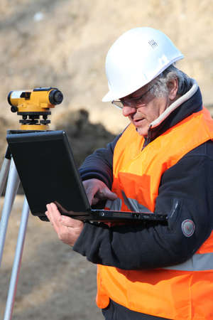 A mature engineer working onsite. Stock Photo - 11913611