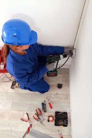 Female electrician photo