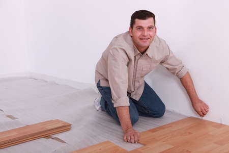 yourselfer: man laying parquet