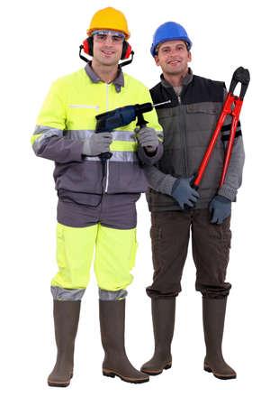A team of tradesmen photo