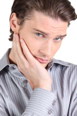 hesitancy: a worried man