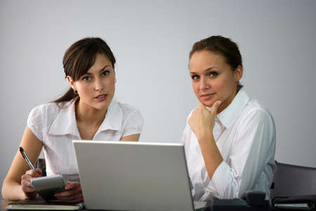 Businesswomen collaborating Stock Photo - 11934887