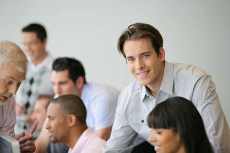 Man in business meeting Stock Photo - 11934727