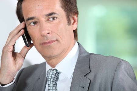 Businessman on the phone. Stock Photo - 11935094