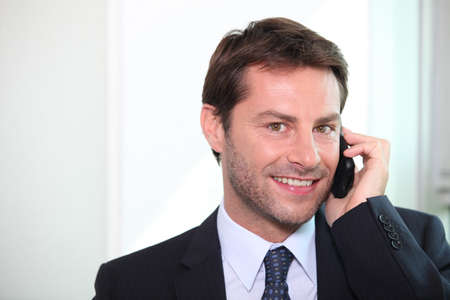 Businessman on the phone Stock Photo - 11934985
