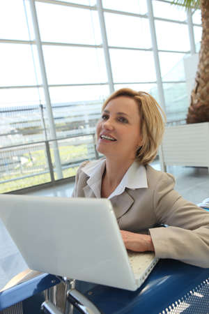 Businesswoman on laptop Stock Photo - 11934965