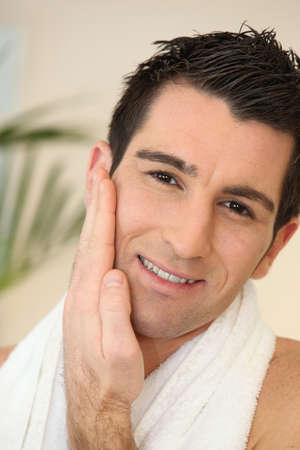 Male pampering in a spa photo