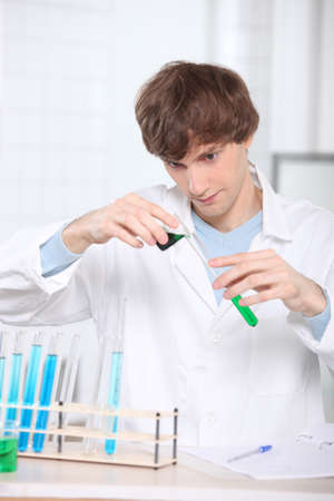Chemistry student Stock Photo - 11947689