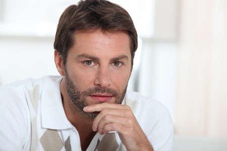 contemplative: Man thinking