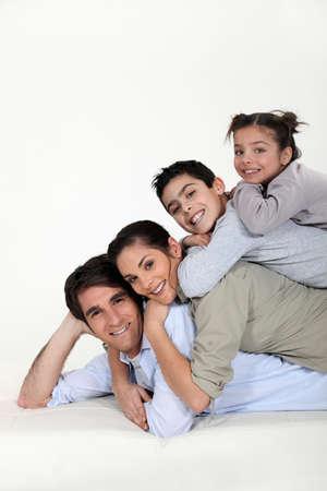 a family pyramid photo