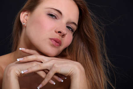 narcissism: Portrait of an arrogant woman